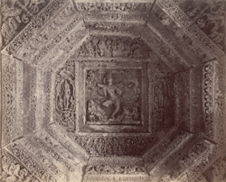 Interior view of the ceiling of the mandapa of the Mahadeva Temple, Ittagi